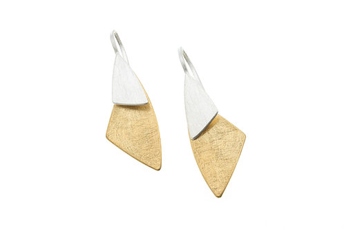 Deco Echo Triangle Drop Earrings