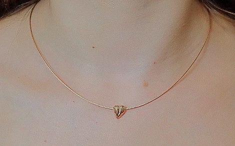 496802685 Glanzpunkt Sterling Silver Vermeil Heart Necklace - available to order