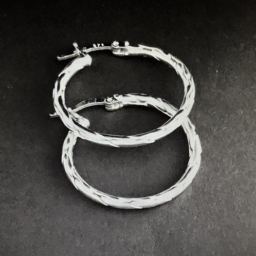 Glanzpunkt Silver Hoop Earrings - Sterling Silver