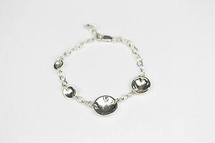 christina oswin concave disc silver bracelet