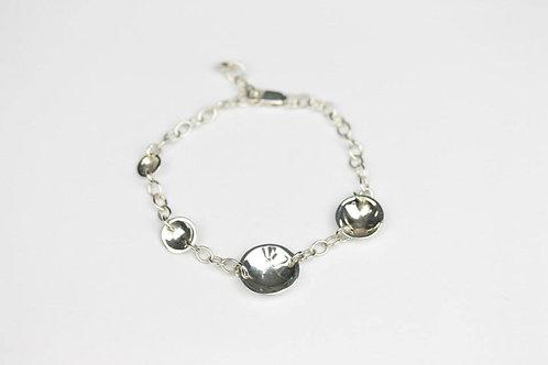Christina Oswin Sterling Silver Concave Disc Bracelet