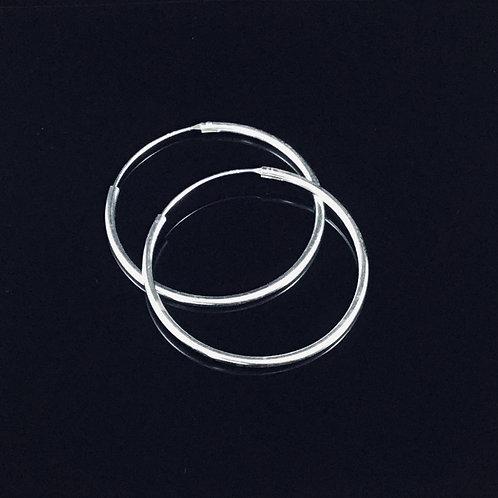 Medium Hoop Earrings 4cm - Sterling Silver