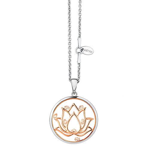 ASTRA LOTUS NECKLACE ROSE GOLD MAYA FAITH FLOWER FLOWERS BUDDHIST BUDDHA