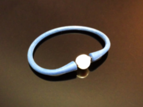 Blue Neoprene Pearl Bangle  Fresh Water Pearl