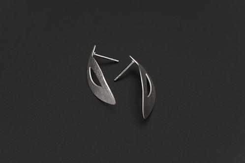 Deco Echo Jacek Szczepański Brushed Silver Earrings