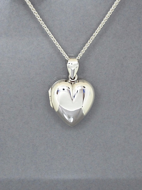 Heart Locket - Sterling Silver