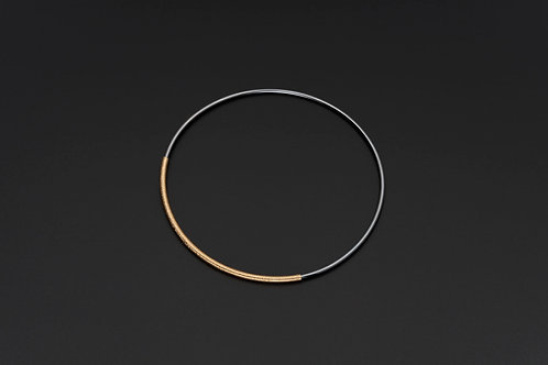 Deco Echo Silver Bangle with 18ct Gold Vermeil