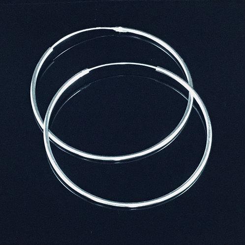 Very Large Hoop Earrings 6cm  - Sterling Silver