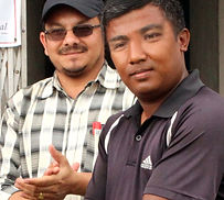 Ward Member of the village handing Heari