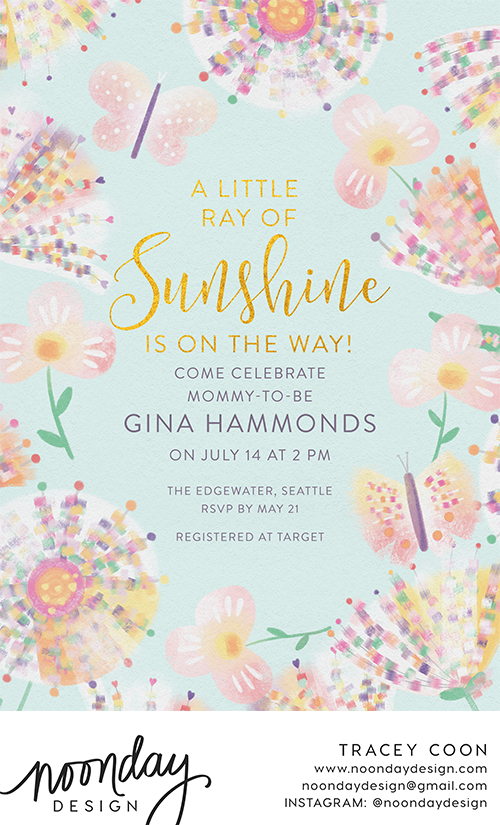 Sweet Pastels Invitation