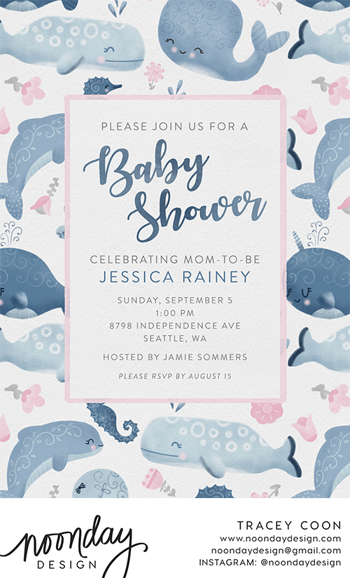 Whimsical Sea Creatures Invitation
