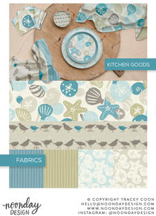 Walk on the Beach Surface Pattern Collection