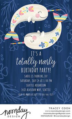Totally Narly Invitation