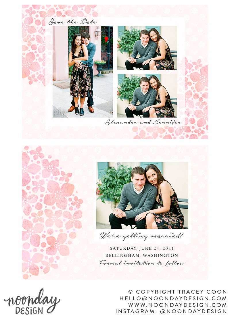 Hydrangea Save the Date Card