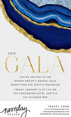 Gold Edged Agate Invitation