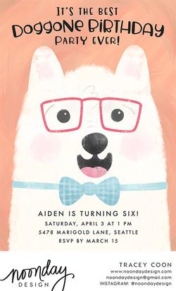 Doggone Birthday Invitation