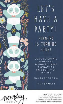 Panda Pals Invitation