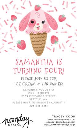 Puppy Ice Cream Invitation