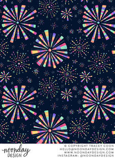 Fireworks Surface Pattern