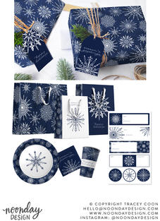 Snowflakes Surface Pattern Collection