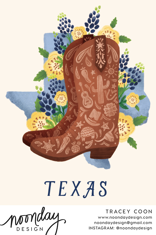 Texas Boot Card