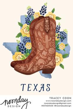 Texas Boot Card