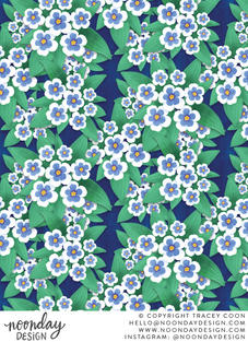 Forget Me Nots Surface Pattern