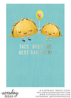 Taco Dad Father's Day Card Illustration