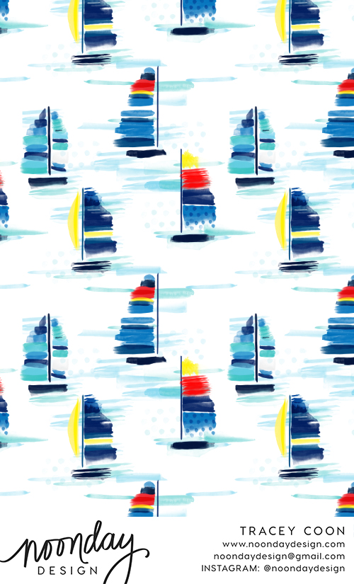 Sailboat Pattern Design
