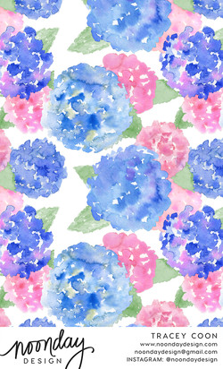 Hydrangeas Pattern Design