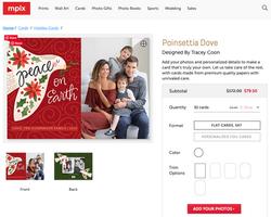 Poinsettia Dove Christmas Card