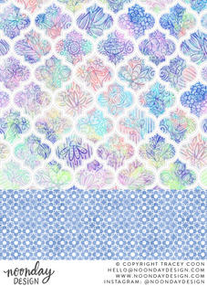 Pastel Quatrefoil Surface Pattern Collection