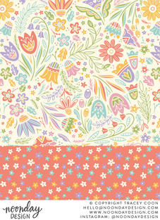 Pastel Vector Art Flowers Surface Pattern Collection