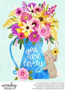 You Are Lovely Illustration