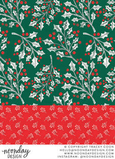 Boughs of Holly Surface Pattern Collection