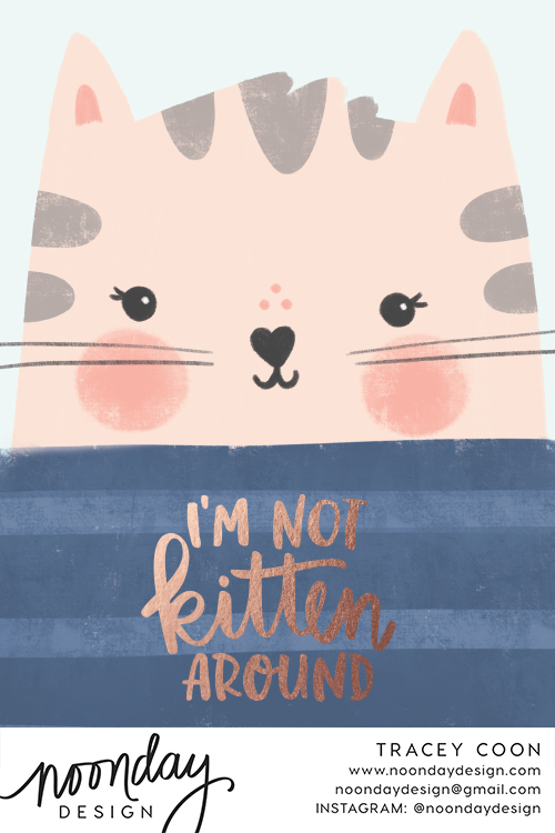 Not Kitten Around Card