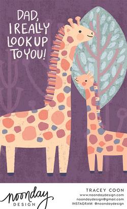 Giraffe Dad Card