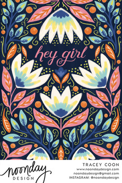 Hey Girl Card