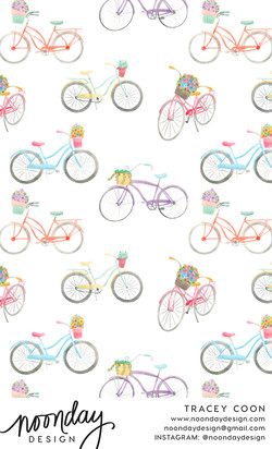 Summer Bicycles Pattern Design