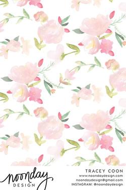 Sorbet Peonies Fabric