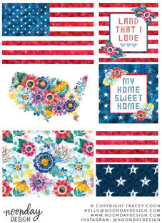 Americana Collection with Surface Patterns