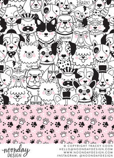 Puppy Party Surface Pattern Collection