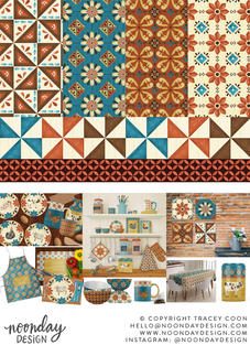 Rustic Watercolor Farmhouse Surface Pattern Collection