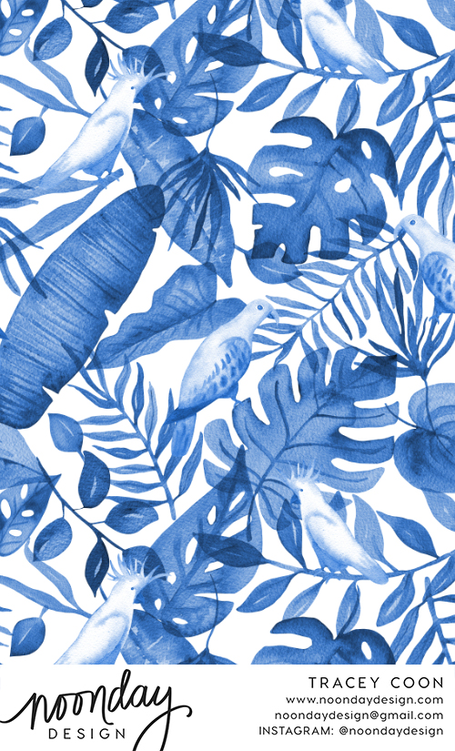 Blue Tropics Pattern Design