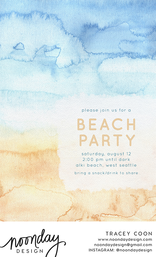 Beachy Tones Invitation