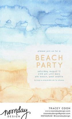 Beachy Tones Invitation