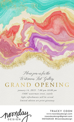 Marble Banner Invitation