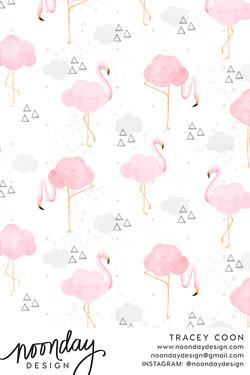 Chance of Flamingos Fabric