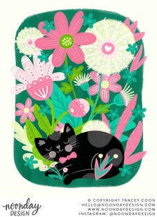 Kitty Garden Children's Illustration