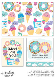 Sweets Party Surface Pattern Collection